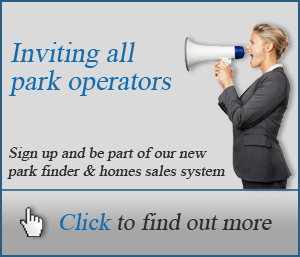 Inviting all park operators to sign up to our new park finder and homes sales system.
